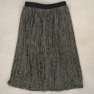 Maeve silver gold black SKIRT size Small